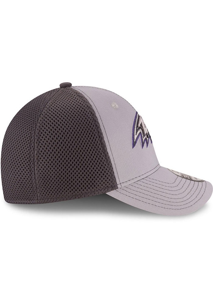 New Era Baltimore Ravens Mens Grey Grayed Out Neo 39THIRTY Flex Hat - Image 6