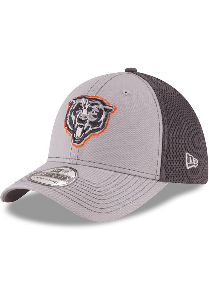 New Era Chicago Bears Mens Grey Grayed Out Neo 39THIRTY Flex Hat - Image 1