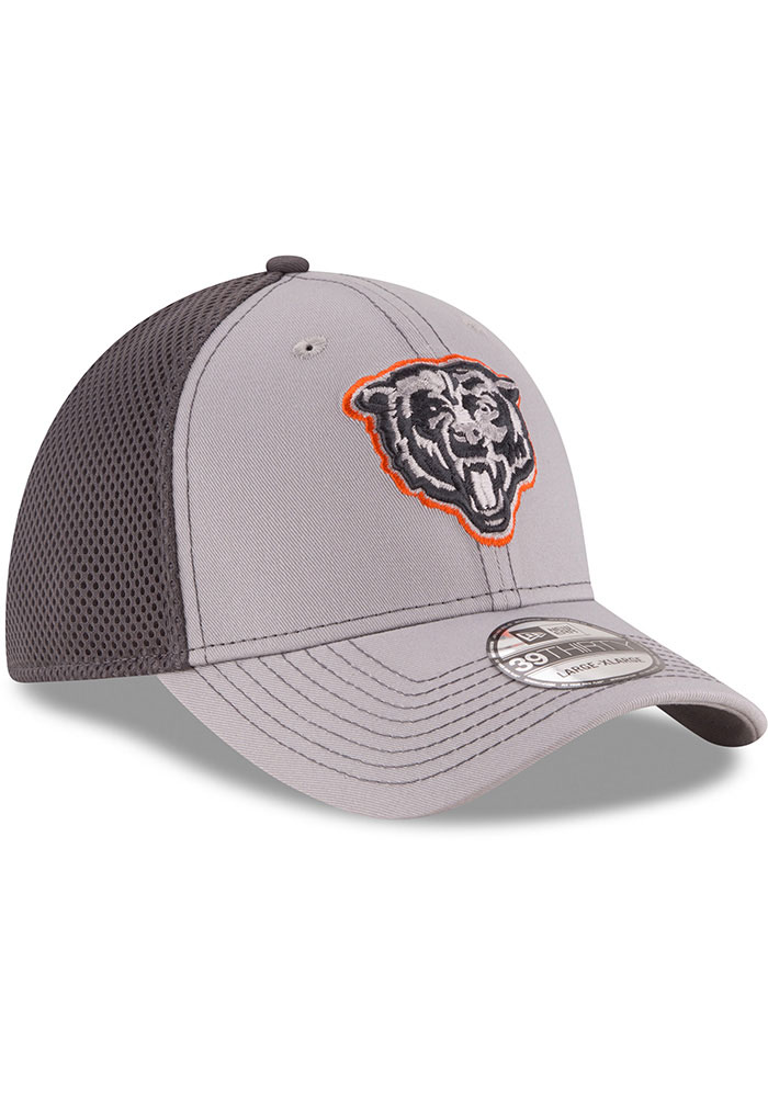 New Era Chicago Bears Mens Grey Grayed Out Neo 39THIRTY Flex Hat - Image 2