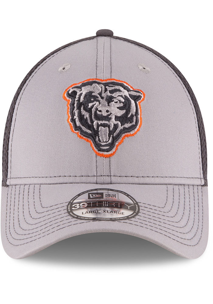 New Era Chicago Bears Mens Grey Grayed Out Neo 39THIRTY Flex Hat - Image 3