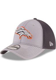 Denver Broncos New Era Grayed Out Neo 39THIRTY Flex Hat - Grey