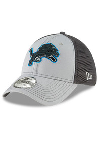 Detroit Lions New Era Grayed Out Neo 39THIRTY Flex Hat - Grey