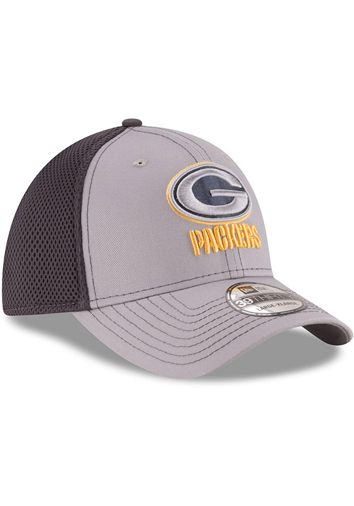 New Era Green Bay Packers Mens Grey Grayed Out Neo 39THIRTY Flex Hat - Image 2