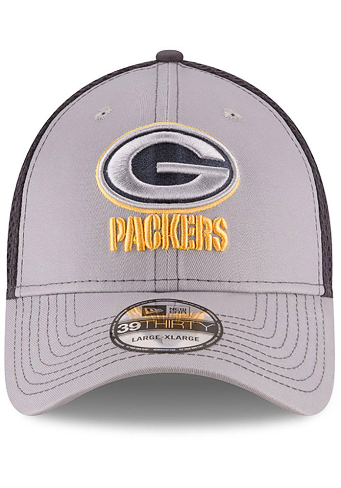 New Era Green Bay Packers Mens Grey Grayed Out Neo 39THIRTY Flex Hat - Image 3