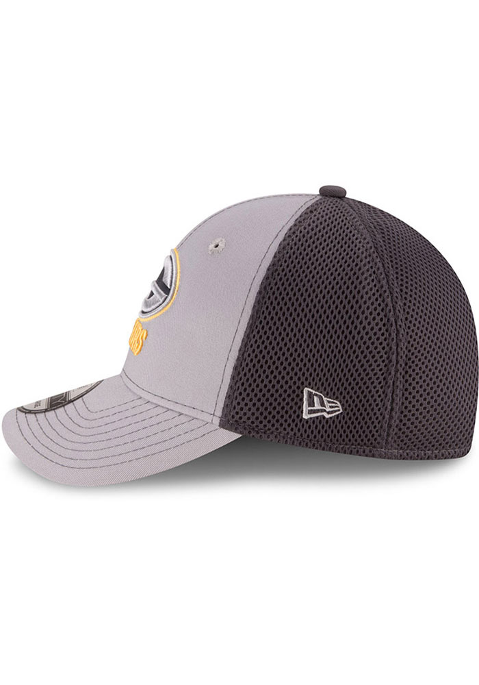 New Era Green Bay Packers Mens Grey Grayed Out Neo 39THIRTY Flex Hat - Image 4