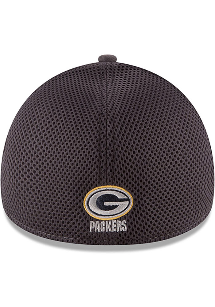 New Era Green Bay Packers Mens Grey Grayed Out Neo 39THIRTY Flex Hat - Image 5