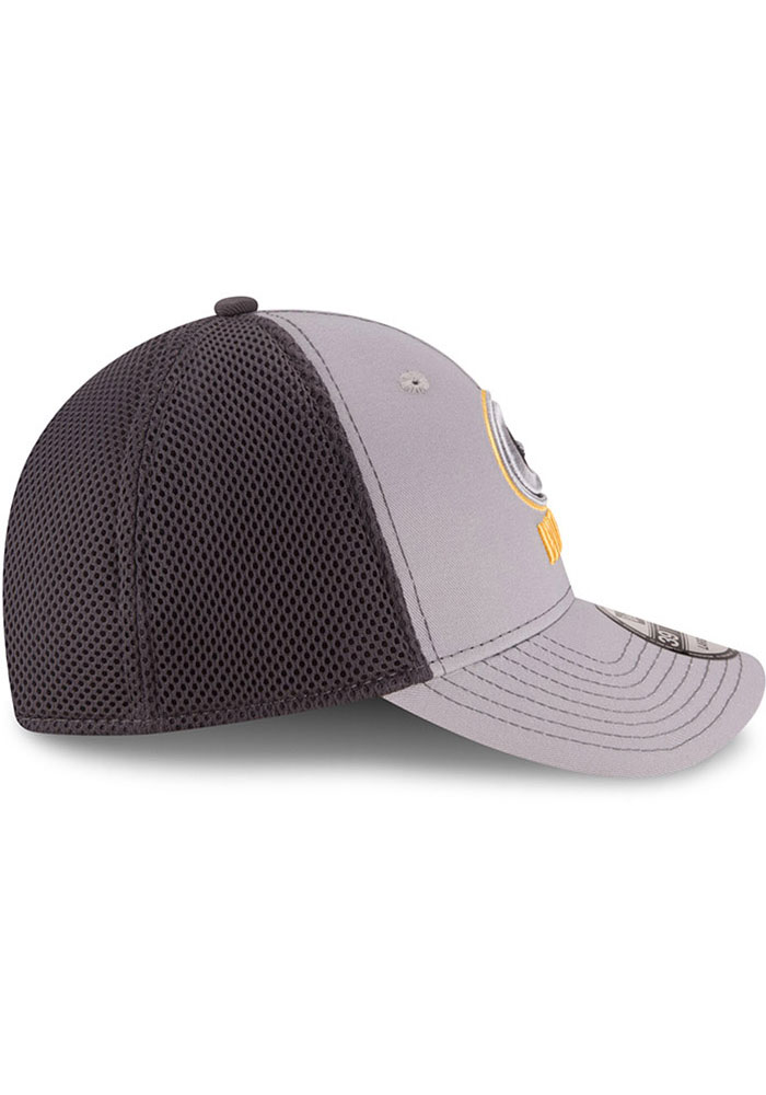 New Era Green Bay Packers Mens Grey Grayed Out Neo 39THIRTY Flex Hat - Image 6