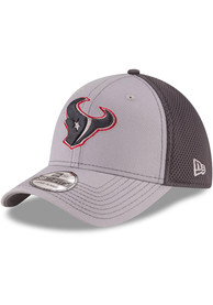 Houston Texans New Era Grayed Out Neo 39THIRTY Flex Hat - Grey