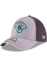 Jacksonville Jaguars New Era Grayed Out Neo 39THIRTY Flex Hat - Grey