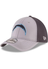 Los Angeles Chargers New Era Grayed Out Neo 39THIRTY Flex Hat - Grey