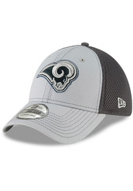 Los Angeles Rams New Era Grayed Out Neo 39THIRTY Flex Hat - Grey