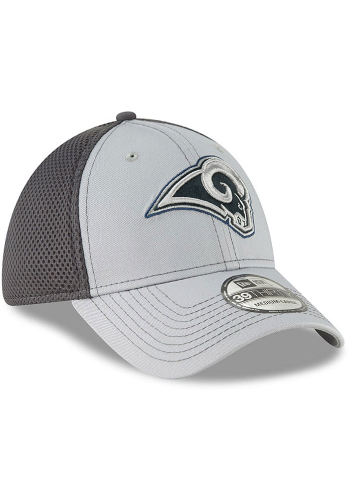 New Era Los Angeles Rams Mens Grey Grayed Out Neo 39THIRTY Flex Hat - Image 2