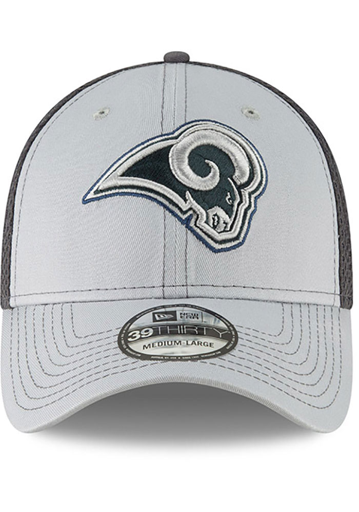 New Era Los Angeles Rams Mens Grey Grayed Out Neo 39THIRTY Flex Hat - Image 3
