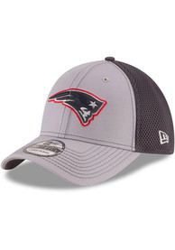 New England Patriots New Era Grayed Out Neo 39THIRTY Flex Hat - Grey