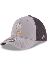 New Orleans Saints New Era Grayed Out Neo 39THIRTY Flex Hat - Grey