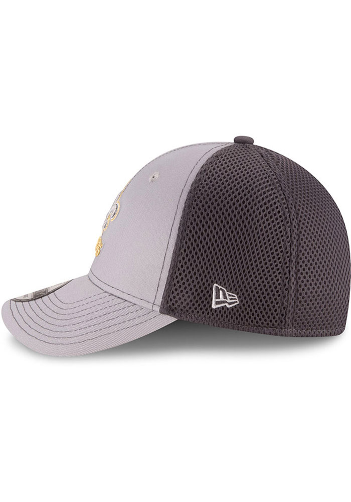 New Era New Orleans Saints Mens Grey Grayed Out Neo 39THIRTY Flex Hat - Image 4
