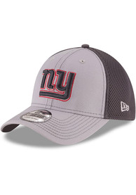 New York Giants New Era Grayed Out Neo 39THIRTY Flex Hat - Grey