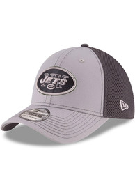 New York Jets New Era Grayed Out Neo 39THIRTY Flex Hat - Grey