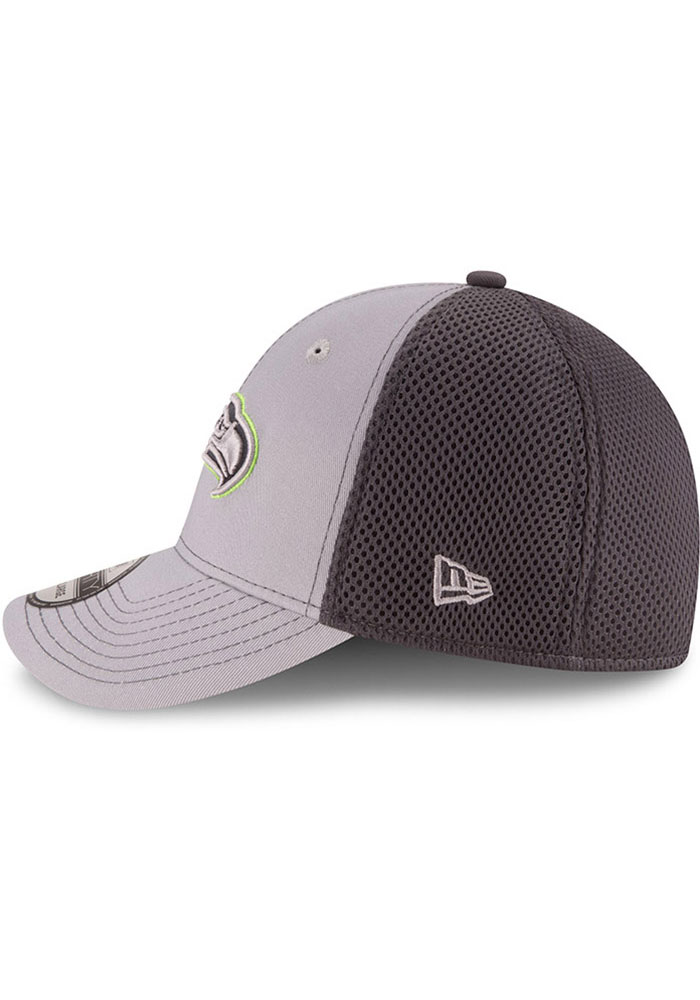 New Era Seattle Seahawks Mens Grey Grayed Out Neo 39THIRTY Flex Hat - Image 4