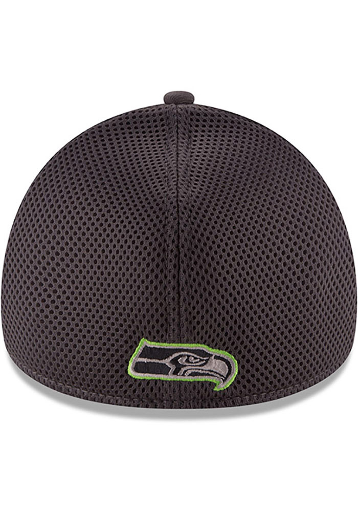 New Era Seattle Seahawks Mens Grey Grayed Out Neo 39THIRTY Flex Hat - Image 5