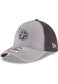 Tennessee Titans New Era Grayed Out Neo 39THIRTY Flex Hat - Grey