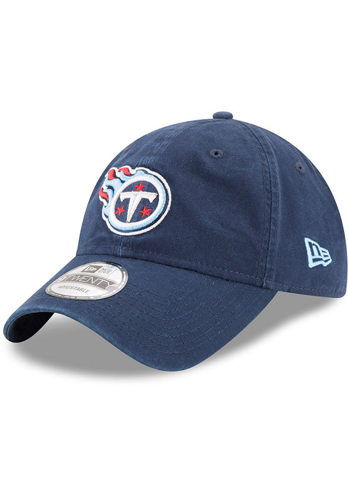 Tennessee Titans New Era Core Classic 9TWENTY Adjustable Hat - Navy Blue