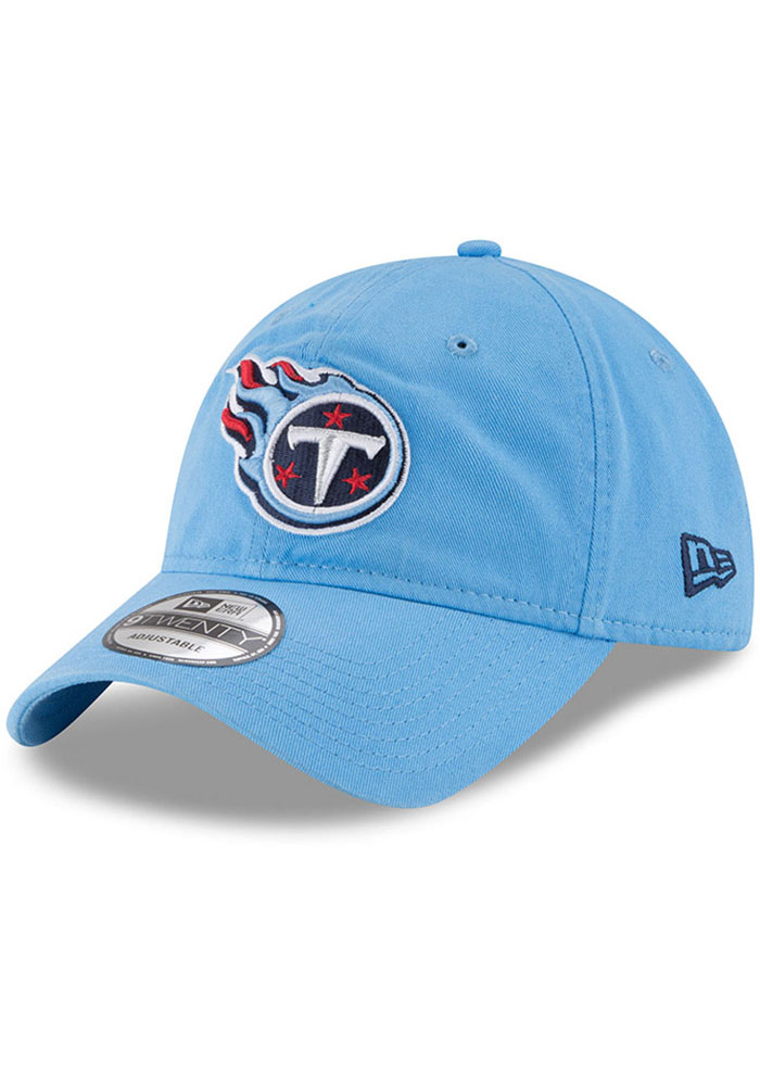 New Era Tennessee Titans Core Classic 9TWENTY Adjustable Hat - Light Blue - Image 1
