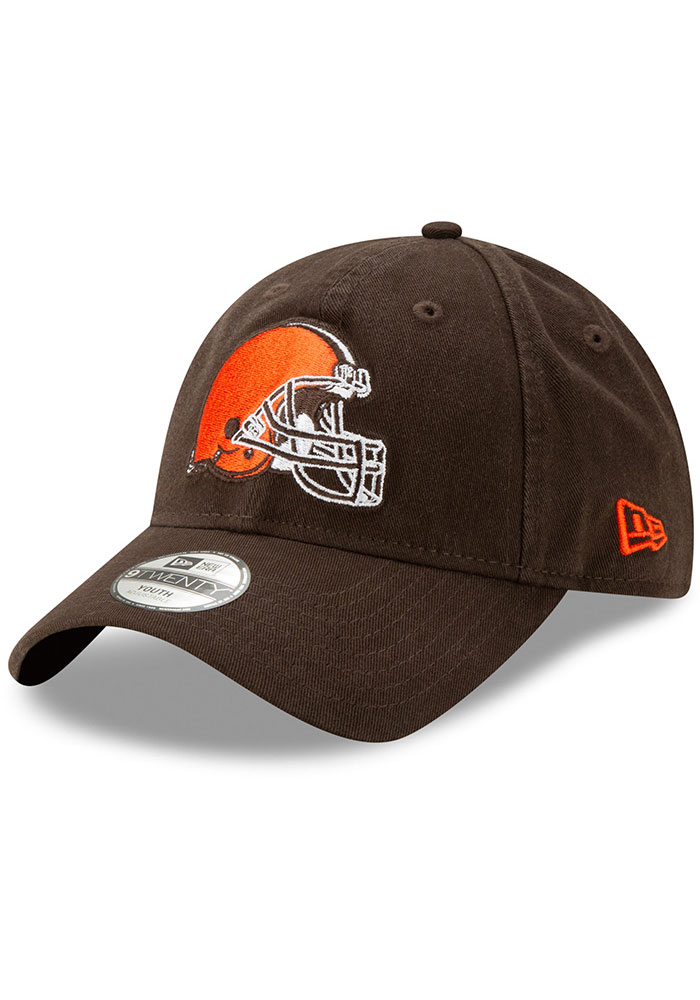 New Era Cleveland Browns Brown JR Core Classic 9TWENTY Youth Adjustable Hat - Image 1