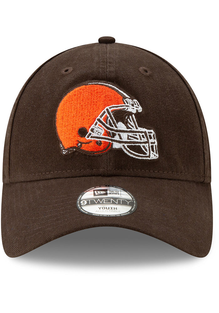 New Era Cleveland Browns Brown JR Core Classic 9TWENTY Youth Adjustable Hat - Image 3