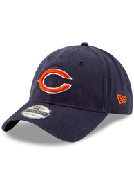 Chicago Bears Youth New Era JR Core Classic 9TWENTY Adjustable Hat - Navy Blue