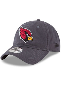 Arizona Cardinals New Era Core Classic 9TWENTY Adjustable Hat - Grey