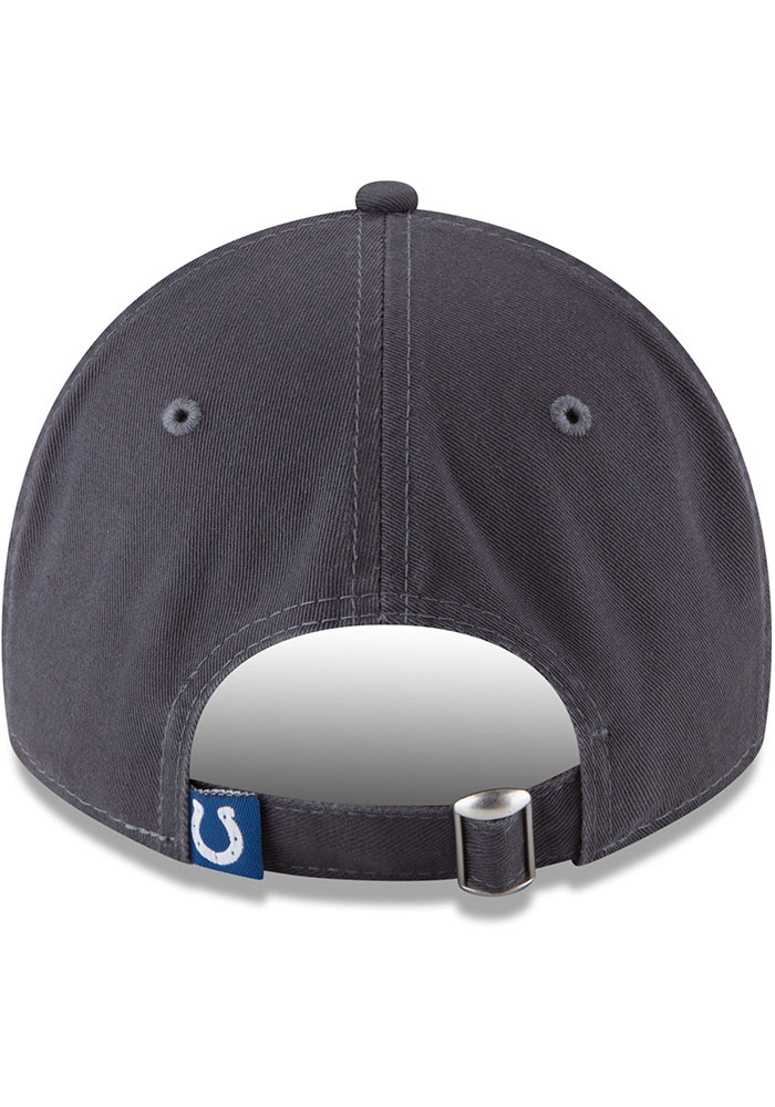 New Era Indianapolis Colts Core Classic 9TWENTY Adjustable Hat - Grey - Image 5