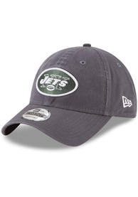 New York Jets New Era Core Classic 9TWENTY Adjustable Hat - Grey