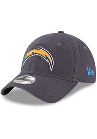 Los Angeles Chargers New Era Core Classic 9TWENTY Adjustable Hat - Grey
