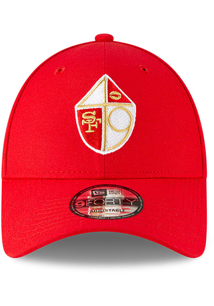 New Era San Francisco 49ers The League 9FORTY Adjustable Hat - Red - Image 3