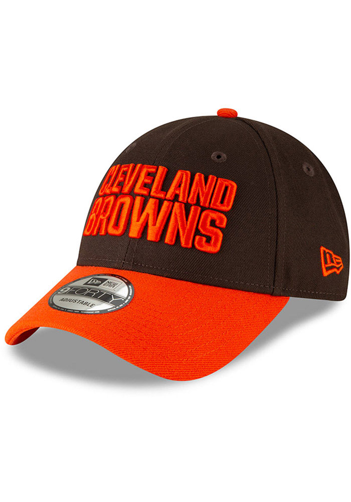 New Era Cleveland Browns The League 9FORTY Adjustable Hat - Brown - Image 1