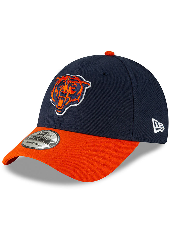 New Era Chicago Bears The League 9FORTY Adjustable Hat - Navy Blue - Image 1