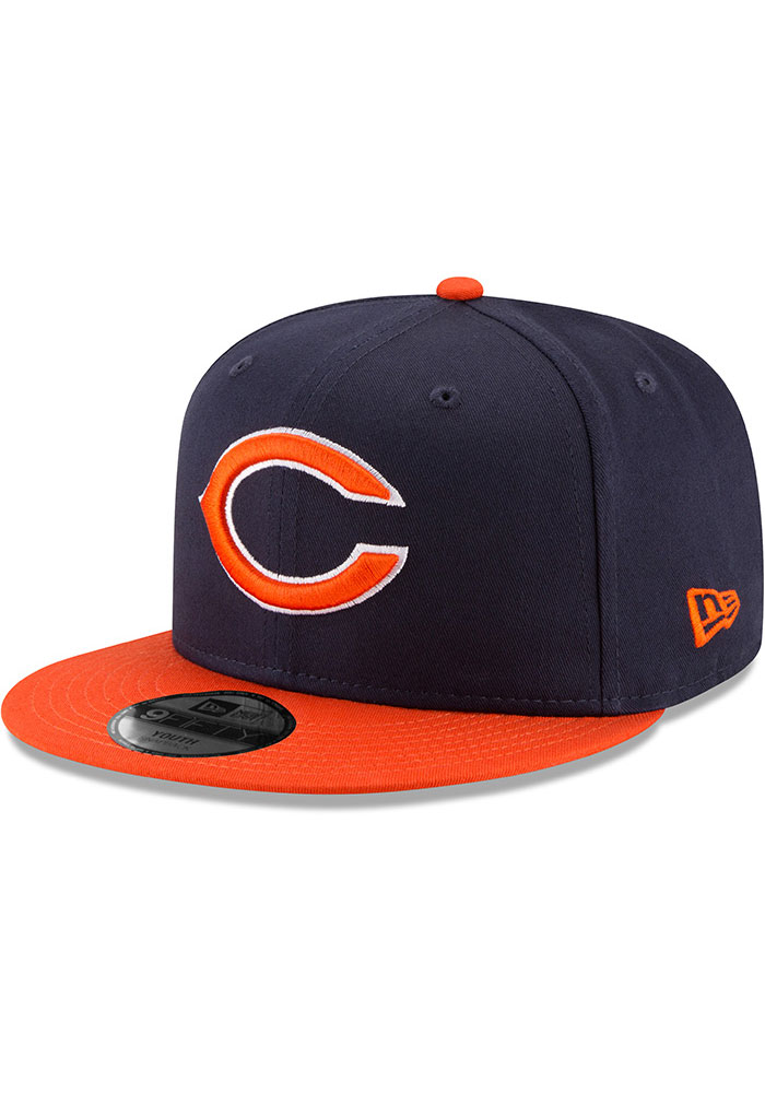 New Era Chicago Bears Navy Blue JR Baycik 9FIFTY Youth Snapback Hat - Image 1
