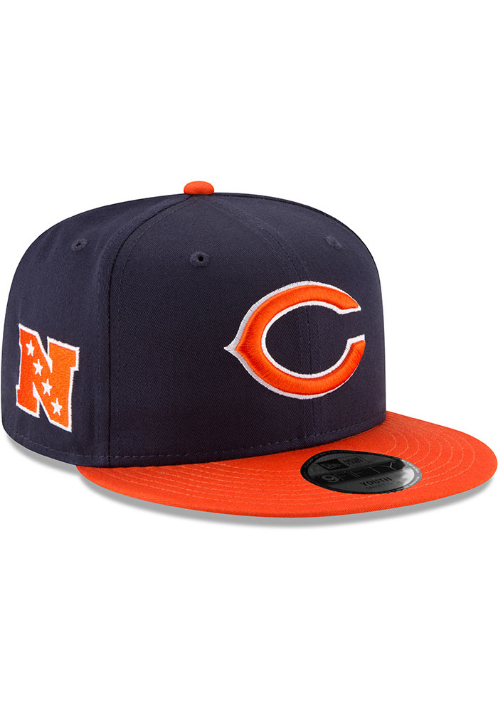 New Era Chicago Bears Navy Blue JR Baycik 9FIFTY Youth Snapback Hat - Image 2