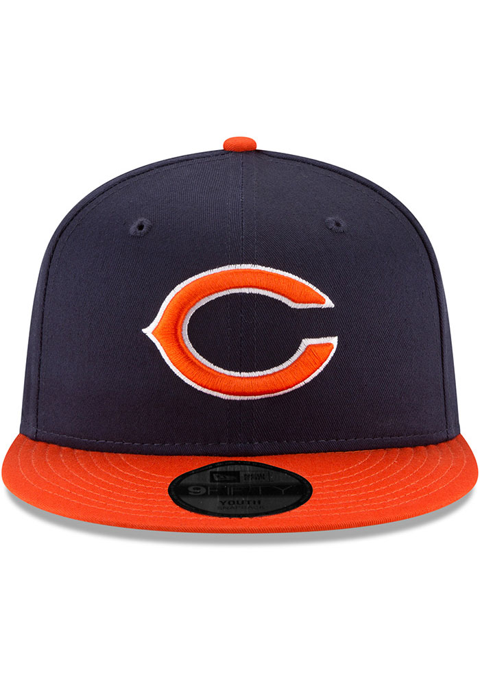 New Era Chicago Bears Navy Blue JR Baycik 9FIFTY Youth Snapback Hat - Image 3