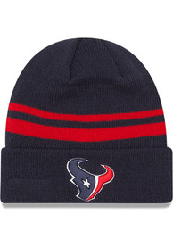 Houston Texans New Era Basic Cuff Knit - Navy Blue