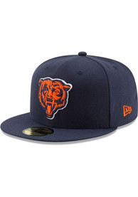 Chicago Bears New Era Basic 59FIFTY Fitted Hat - Navy Blue