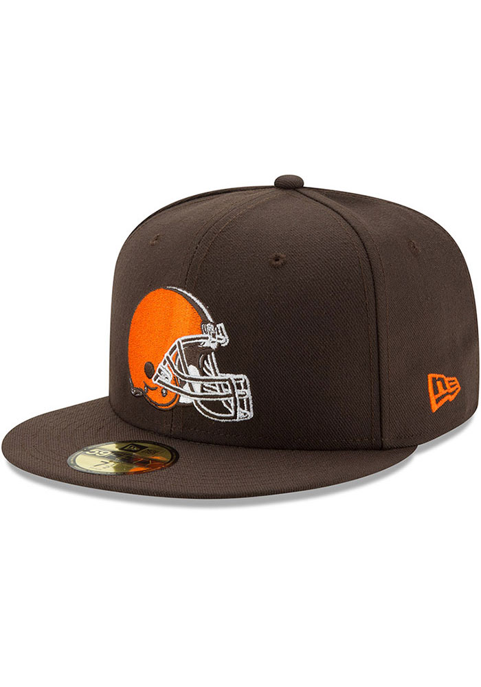 New Era Cleveland Browns Mens Brown Basic 59FIFTY Fitted Hat - Image 1
