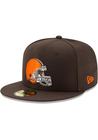 Cleveland Browns New Era Basic 59FIFTY Fitted Hat - Brown