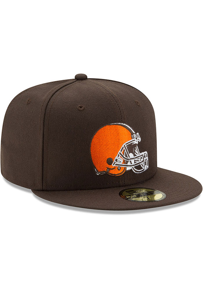 New Era Cleveland Browns Mens Brown Basic 59FIFTY Fitted Hat - Image 2