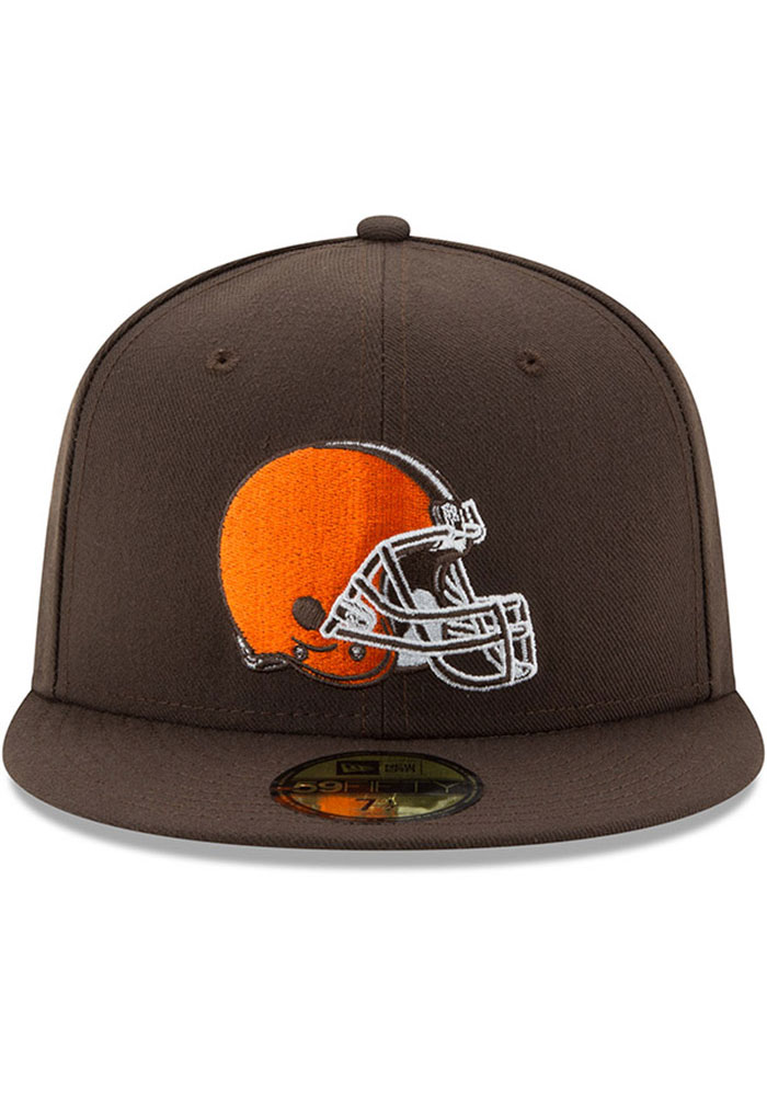 New Era Cleveland Browns Mens Brown Basic 59FIFTY Fitted Hat - Image 3