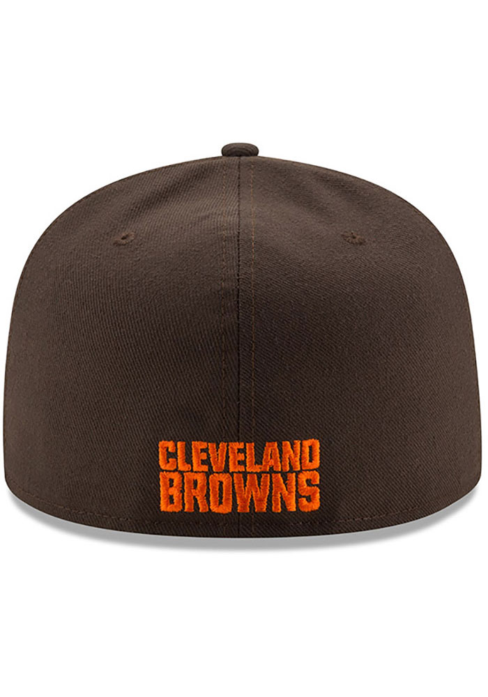 New Era Cleveland Browns Mens Brown Basic 59FIFTY Fitted Hat - Image 4