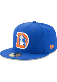 Denver Broncos New Era Basic 59FIFTY Fitted Hat - Blue