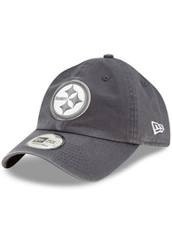 New Era Pittsburgh Steelers Casual Classic Adjustable Hat - Grey