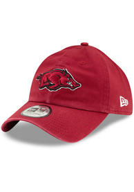 New Era Arkansas Razorbacks Casual Classic Adjustable Hat - Red
